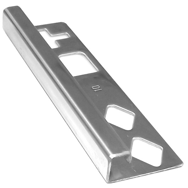 DTA Square Stainless Steel G304 Tile Trim 8mm x 3m - Buy Online