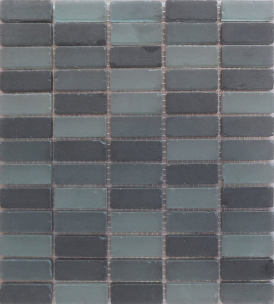 Aged Black Mix Mosaic 20x40