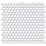 Penny Round White Matt 19mm Mosaic