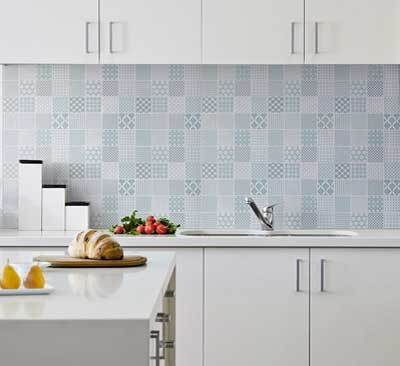 Wonderful Light Grey Mosaic Tile Splashback