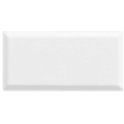 Bevelled Gloss White Wall Tile 100x200