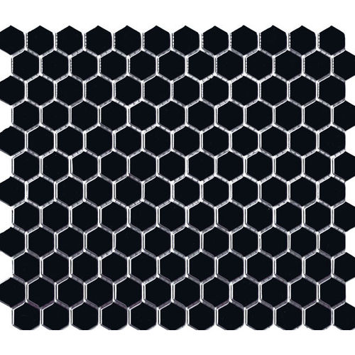 Hexagon Black Gloss 23x26