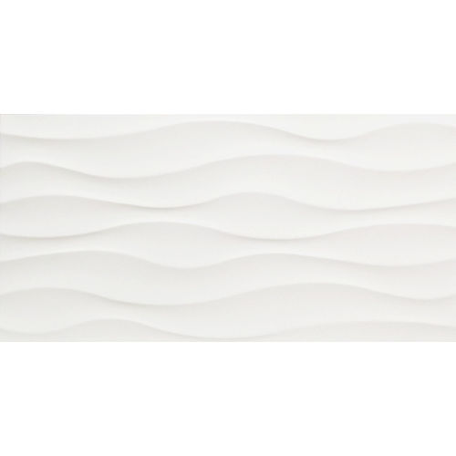 Regent Wavy Gloss White Wall Tile 300x600