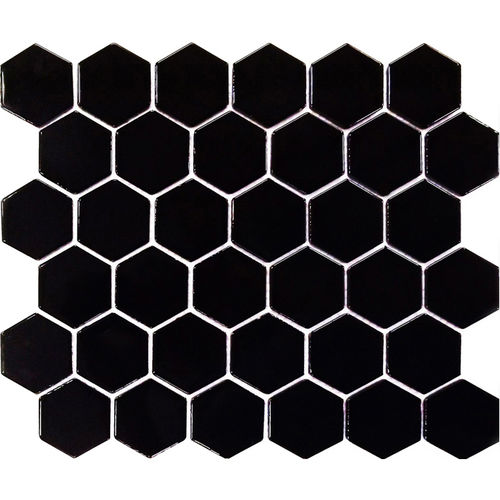 Hexagonal Gloss Black 51x58