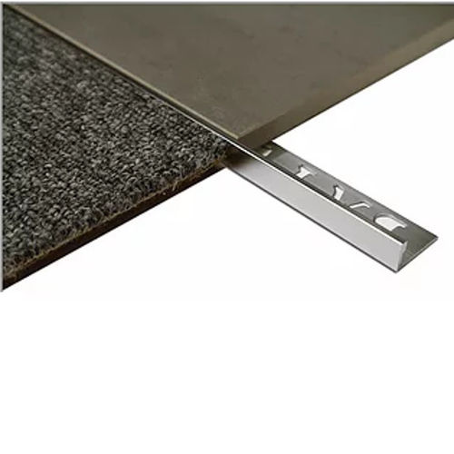 L Angle Aluminum Tile trim 12.5mm x 3metre (Bright Shiny)
