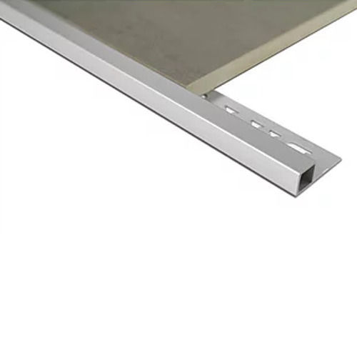 Mosaic Corner Tile trim 12.5mm x 3m (Bright Silver)