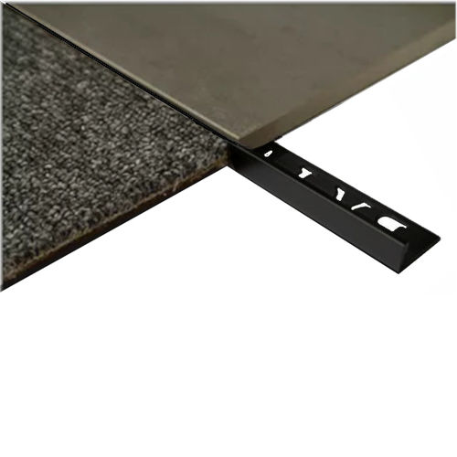 L Angle Aluminum Trim 8mm x 3metre (Gloss Black)