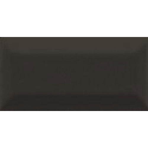 Subway Bevelled Black Gloss Wall Tile 75x150