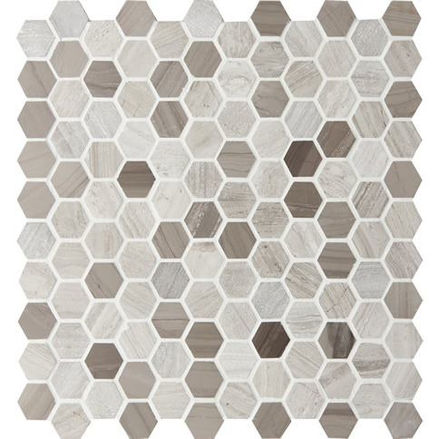 Montage Tosca Hexagon Small #2 Hazelnut Mosaic