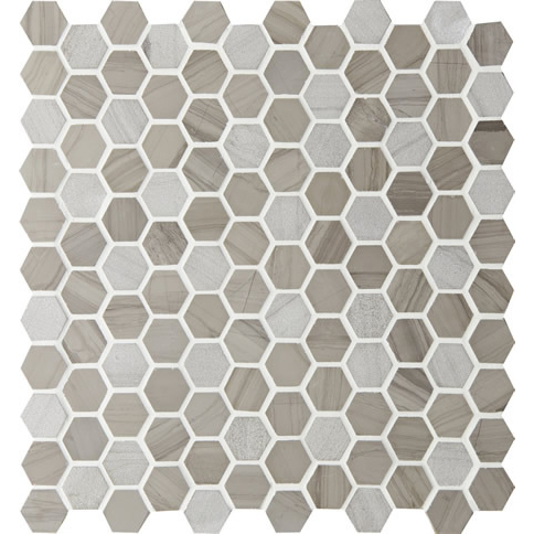 Montage Tosca Hexagon Small #3 Riverbed Mosaic