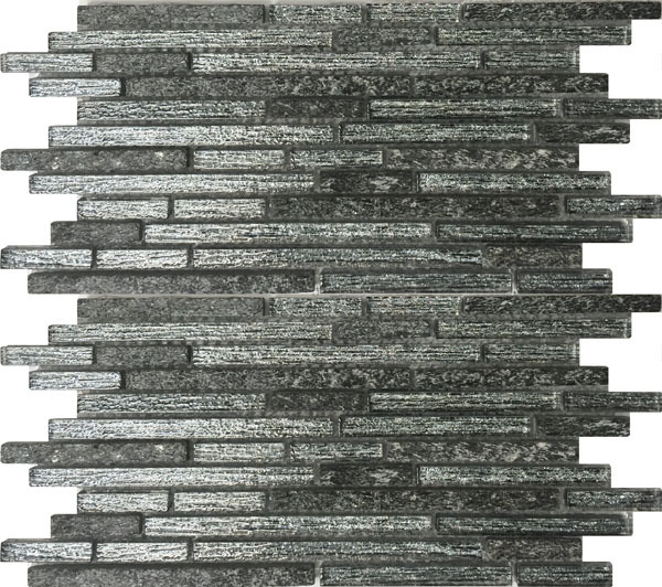 HD Black Interlocking Mosaic
