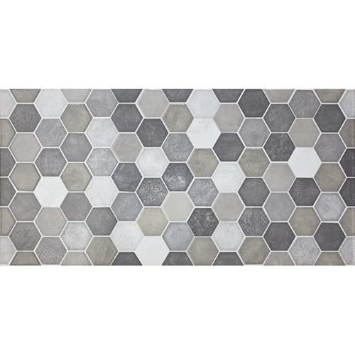 Folio Hexion Charcoal Wall Tile 300x600