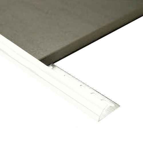 Half Round Aluminium edge 10mm x 3m (Gloss White)