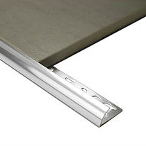 Half Round Aluminium edge 10mm x 3m (Mill Finish)