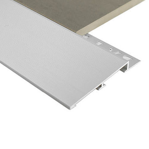 Aluminium Diminishing trim Commercial 8mm x 3m (Matt Silver)
