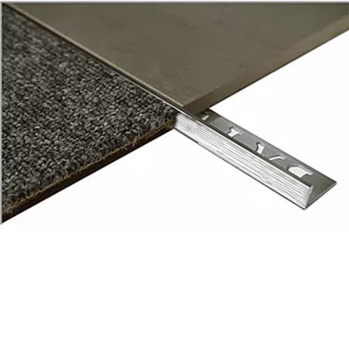 L Angle Aluminium Tile trim 10mm x 3metre (Linished)