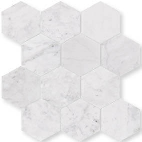 Montage Como Ice Hexagon Mosaic