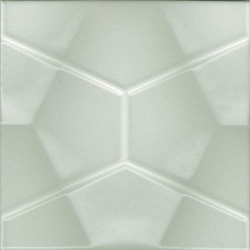 3D Grey Geo Gloss Wall Tile 200x200