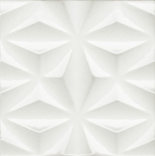 3D White Gloss Starburst Wall Tile 200x200