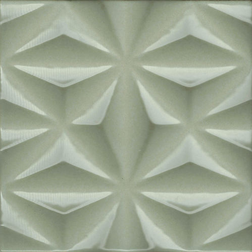 3D Dark Grey Gloss Starburst Wall Tile 200x200