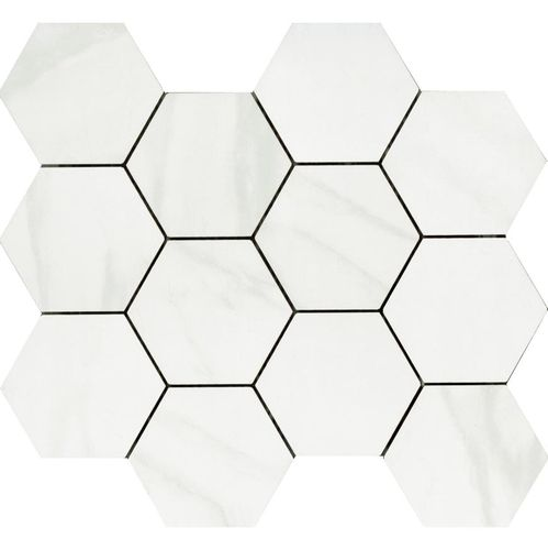 Carrara Polished Hexagon 85x100