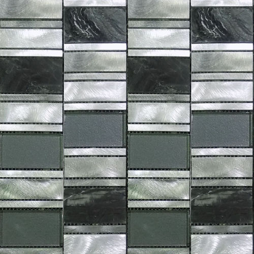 Industrial Black Granite Mosaic