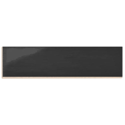 Subway Black Gloss Wall Tile 75x300