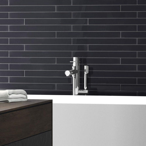 Farrow Off Black Gloss Wall Tile 50x500