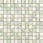 Pearlescent White Mosaic 23x23