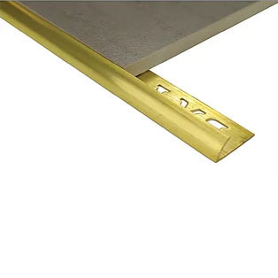 Half Round Brass Edge 10mm x 3metre