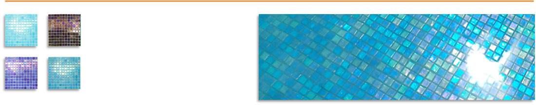 Vidrepur Shell Glass Pool Tiles 25mm x 25mm