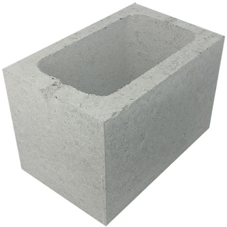 Concrete Grey Block Three Quarter 3/4 20.02