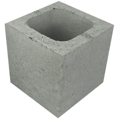 Concrete Grey Block Half 20.03
