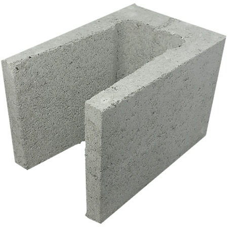 Concrete Grey Block 3/4 Lintel 20.25