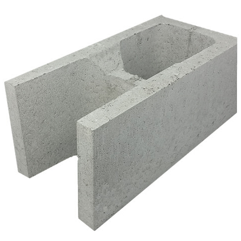 Concrete Grey Block Knockout Bond Corner 20.21