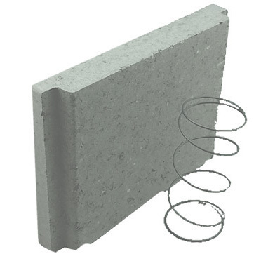 Concrete Grey Block Biscuit & Spring