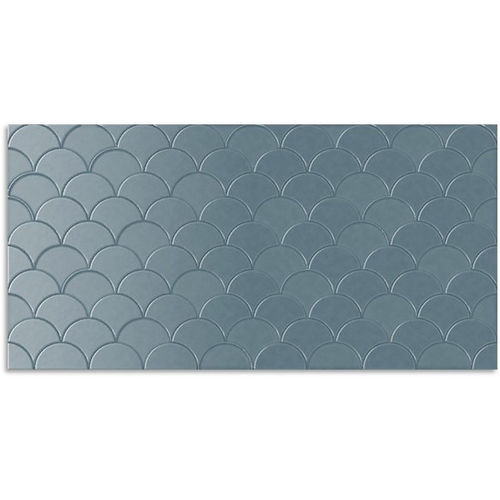 Infinity Koi French Blue Wall Tile 300x600