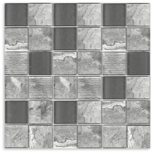 Dark Grey Square Mix Mosaic