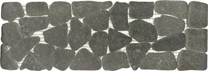 Charcoal Flat Stone Border